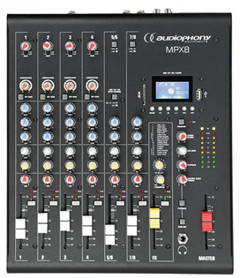 Compact 8 Channel Mixer with USB/SD %2