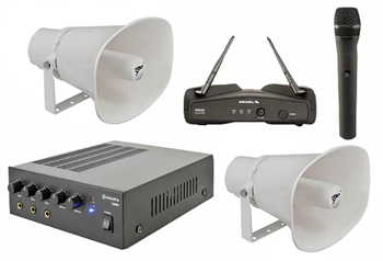 Outdoor PA System – 2 Horn Speake