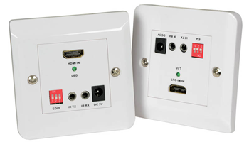 50m HDMI Extender Wallplate Kit with B