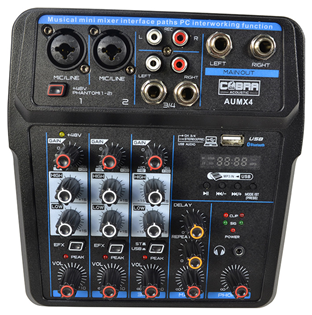 4 Channel Mixer with Bluetooth by Cobr