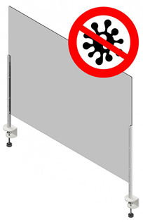 Protective Health Screen 1000 x 750mm