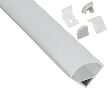 Aluminium LED Tape Profile - 90 Degree