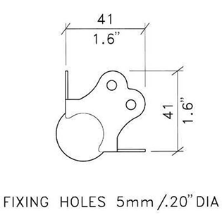 SMALL BALL CORNER WITH SCREWS PACK OF%