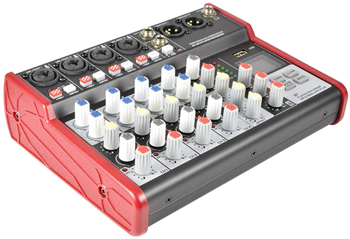 6 Channel Compact Mixer with USB &%2