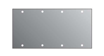 2U BLANK PANEL FOR M/P/S  4/10TH