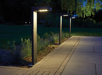 Solar LED Post Light With PIR Sensor