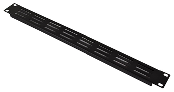 19-Inch 1U Rack Panel Vent Grille Blac