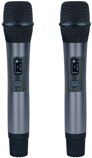 Twin Handheld Diversity Microphone System%