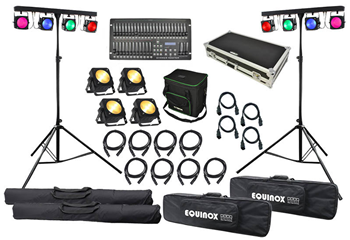 Powerful COB LED Stage Lighting Set.