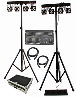Complete RGB Stage Lighting System with%