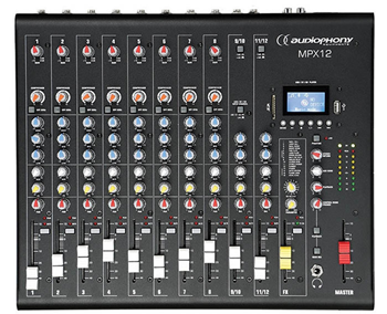 Compact 12 Channel Mixer with USB/SD %
