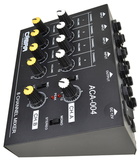 8 Channel Line and Microphone Mixer by