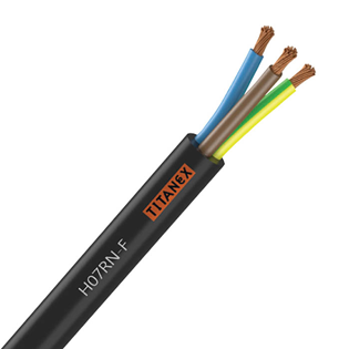 6mm 3 Core Rubber Power Cable 100m H