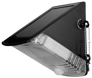 Angled Solar Powered LED Wall Light Wi