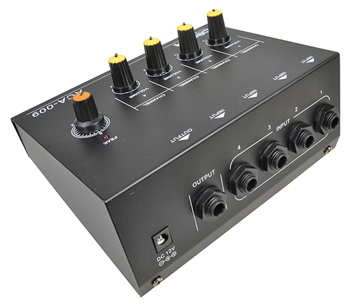 4 Channel Mono Line Mixer with Optiona