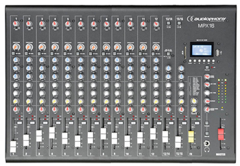 Compact 16 Channel Mixer with USB/SD %