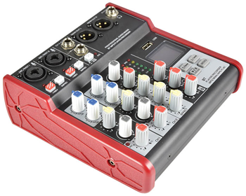 4 Channel Compact Mixer with USB &%2