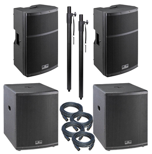 Large 4400 Watt Active PA System 12