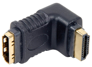 HDMI RIGHT ANGLED COUPLER PLUG TO SOCK