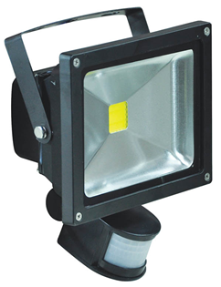 LED Floodlight With PIR and PIR Overri