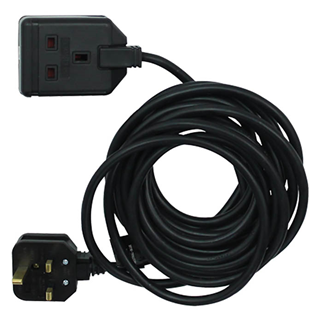 Single Gang 13A Extension Lead - Black