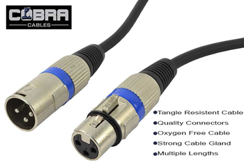 Cobra XLR Male to XLR Female Mic/Speak