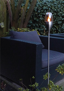 Solar LED Spiked Candle Torch