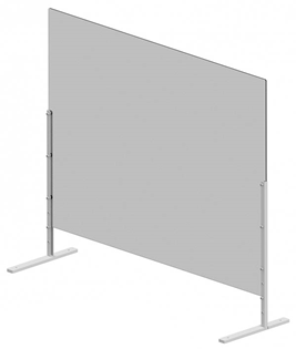 Free Standing Protective Health Screen 1