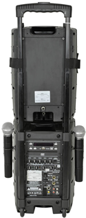Portable PA System with UHF Mics, Bl