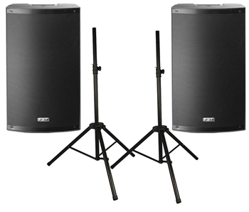 Two FBT X-LITE 15A Active Speakers wit