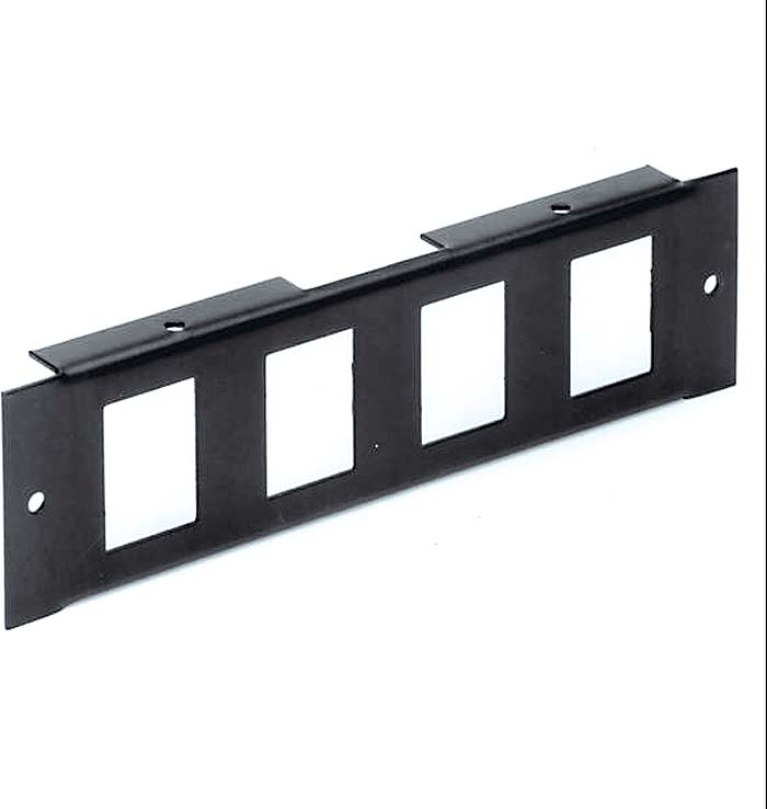 4 Unit Front Module 4 x SnapIn IEC Male - Modular Box