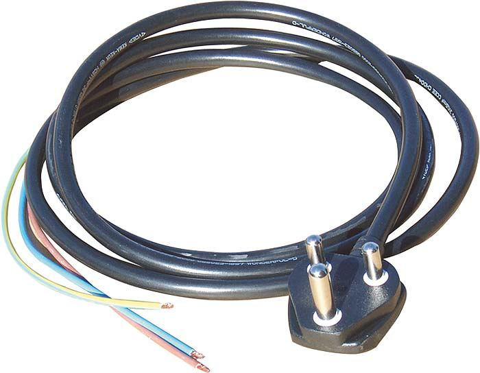 15A MOULDED PLUG WITH 2M LEAD
