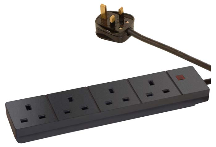 FOUR WAY EXTENSION BOARD (BLACK) 5M
