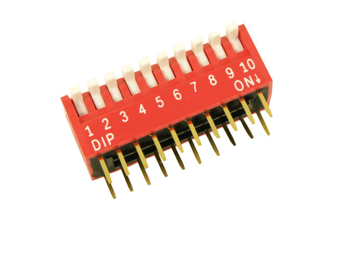 10 WAY DIPSWITCHES