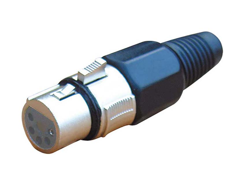 FEMALE XLR 5 PIN METAL