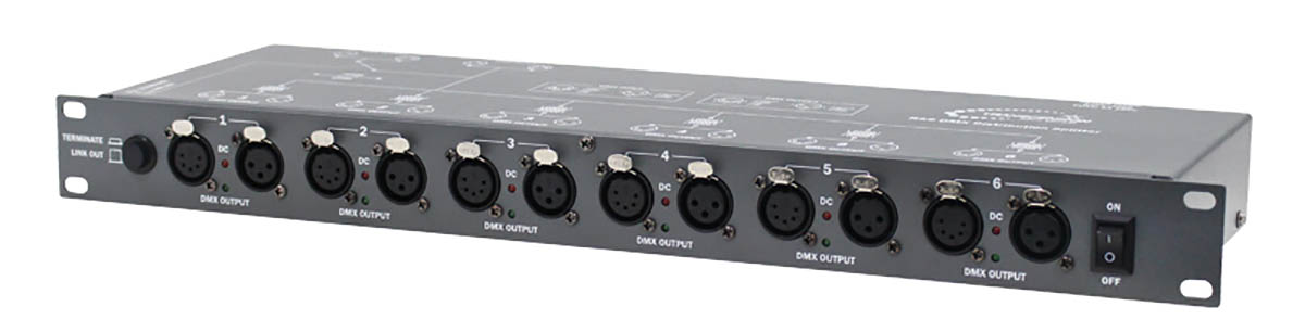 8 Way DMX Splitter - Rack Mountable