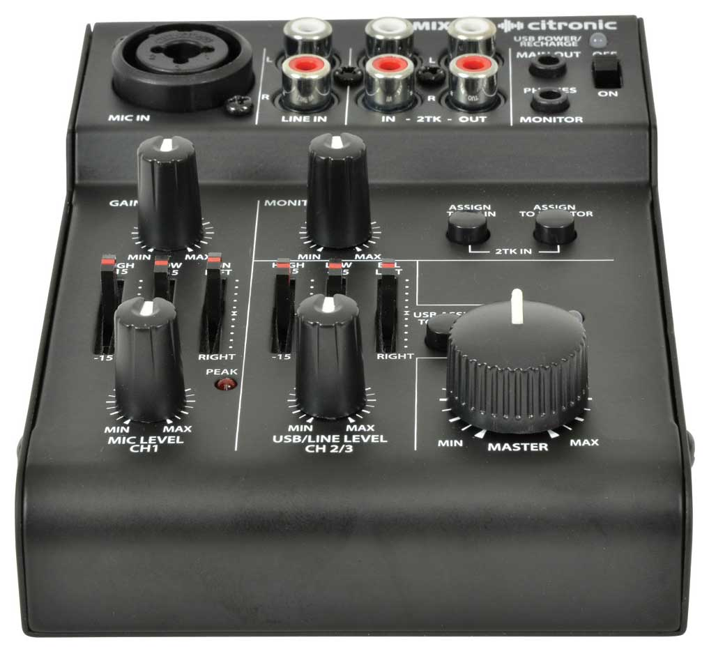2 Channel Battery Powered Mixer