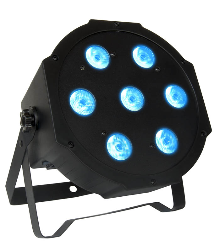Four RGB LED Tri Par Pack, Bag and