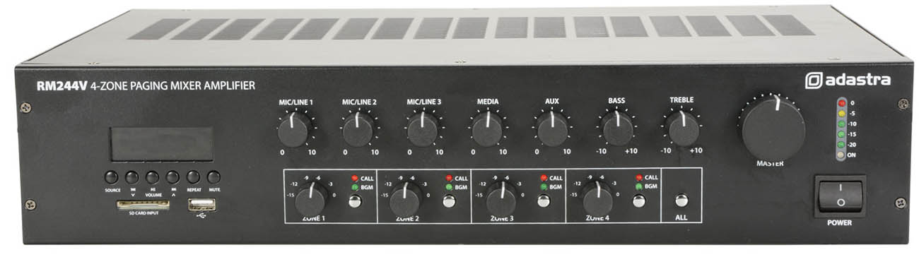 100 Volt Mixer/Amplifier with Bluetooth,