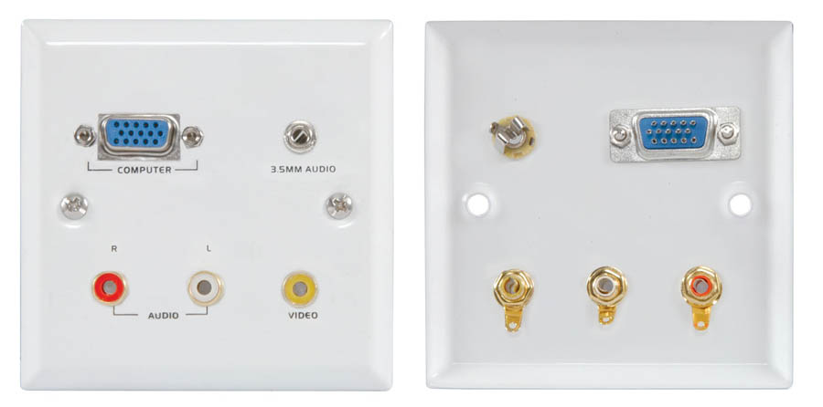 VGA/AUDIO/VIDEO WALLPLATE