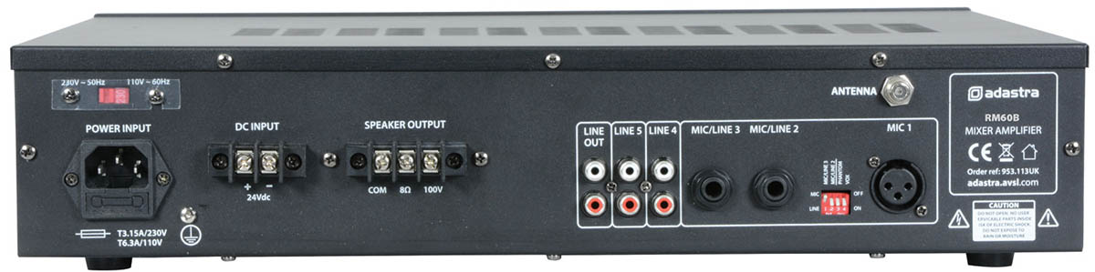 100 Volt Amplifier with Bluetooth, Tun