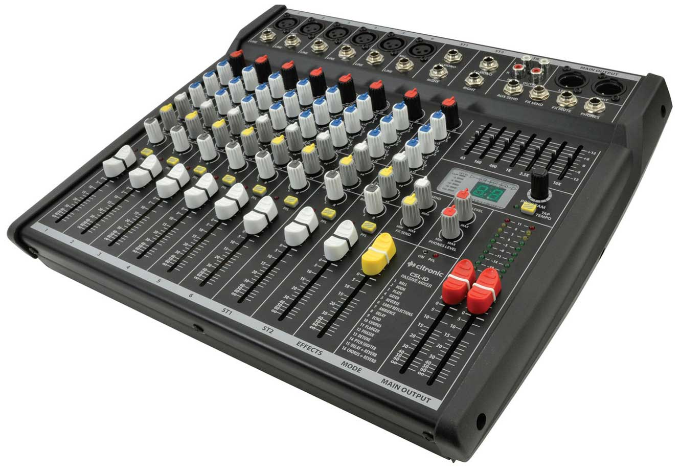 10 Channel Mixing Desk CSL-10 by Citro