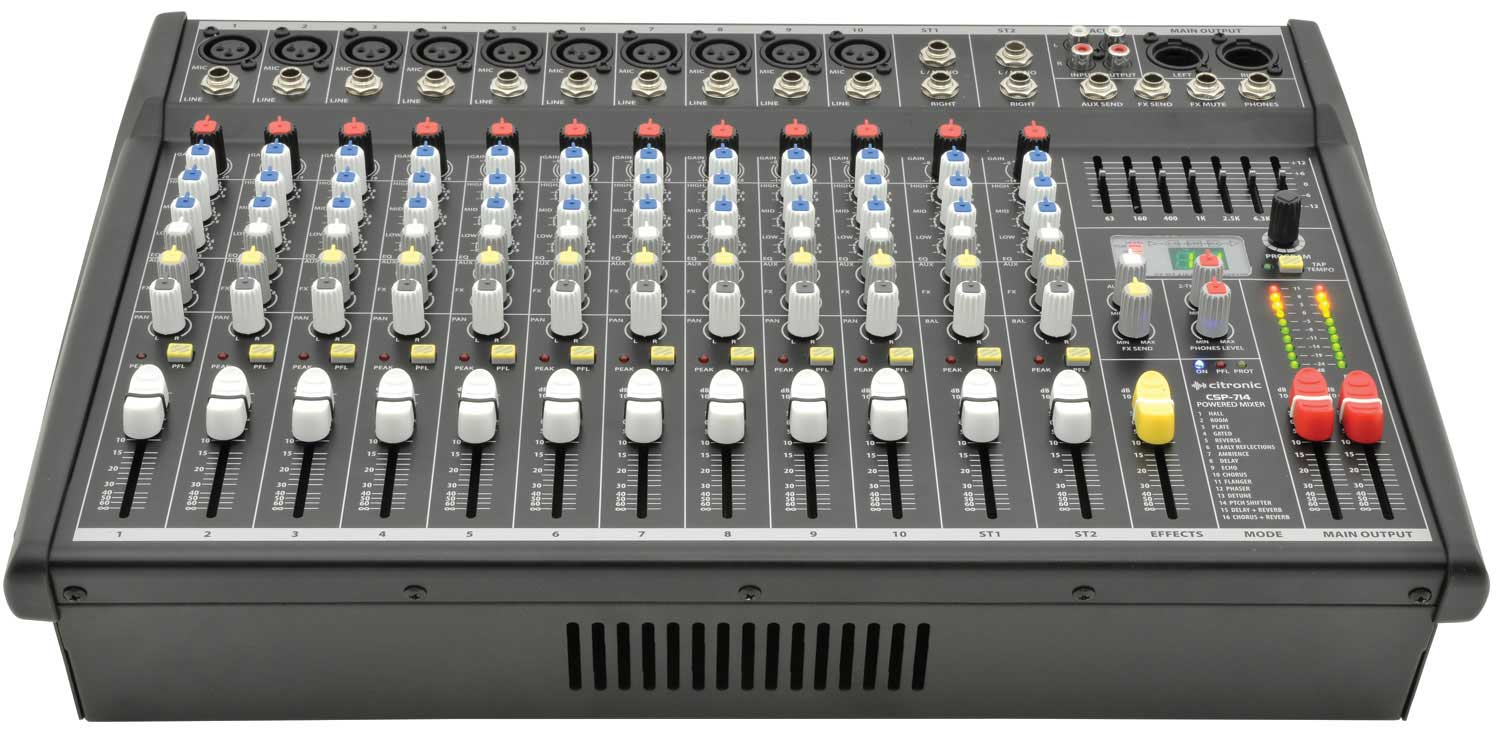 14 Channel Powered Mixer CSP-714 by Ci