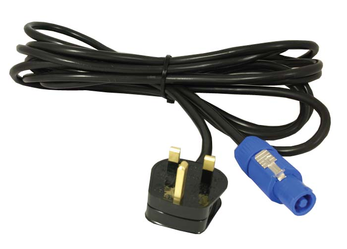 Powercon To 13 Amp Plug Extension Lead