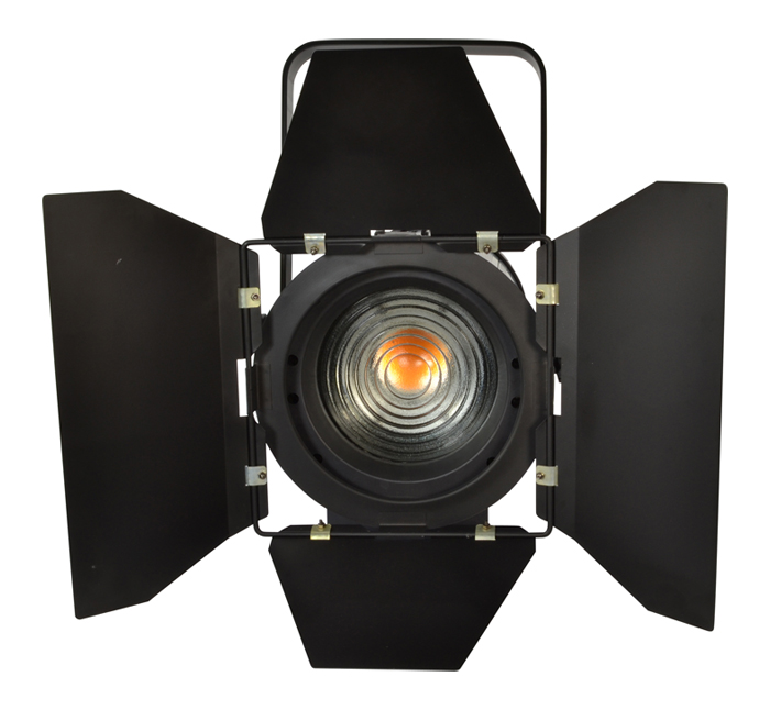 Led Fresnel 200w Warm White Stage Spot With Barn Door Fresnel
