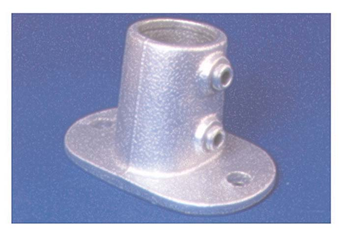PIPECLAMP ANGLED RAILING BASE FLANGE (