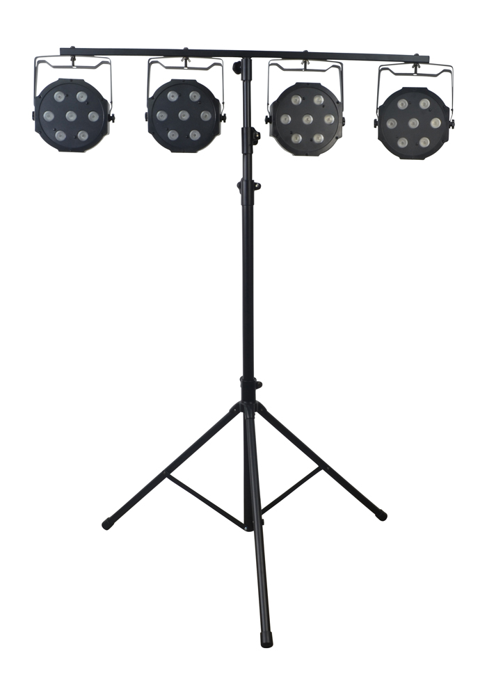 RGBW Stage Lighting System, 8 Lights%2