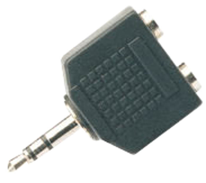 ADAPTOR 3.5MM STEREO JACK TO 2 X 3.5