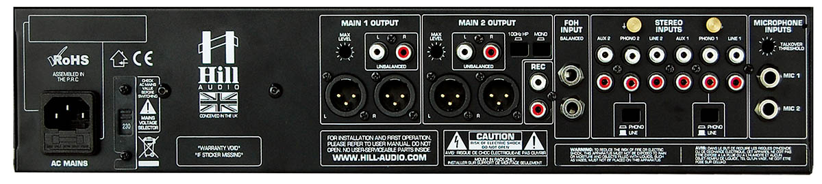 Hill Audio PSM2220 Installation Mixer