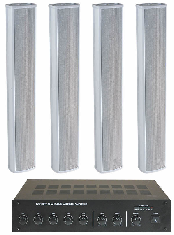 Column Speaker Medium Pa System 4 Speakers Place Of
